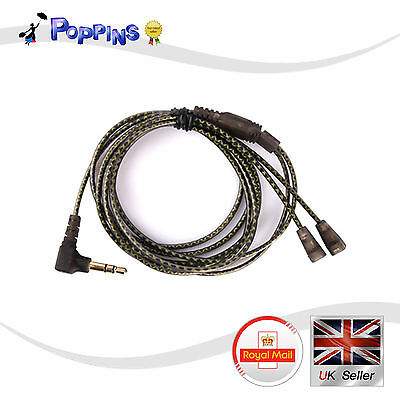 NEW Replacement Cable 120cm For SENNHEISER IE80 IE8 IE8I IE800