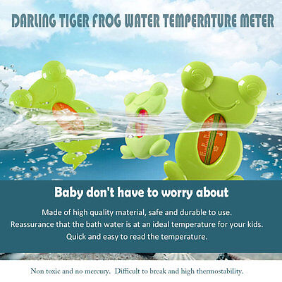 Turtle Frog Lovely Water Thermometer Floating Safe Durable Thermometer Bath AU