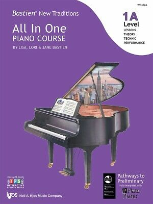 Bastien New Traditions All in One Piano Course Level 1A - Kjos WP452A Brand New