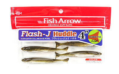 Fish Arrow Soft Lure Flash J Huddle 4 Inch 6 Piece per pack #01 (3950)