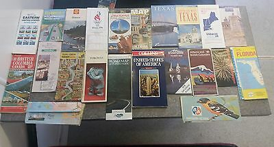 Bundle of 22 vintage COLLECTORS maps USA AMERICA Shell GOOD CONDITION free p&p
