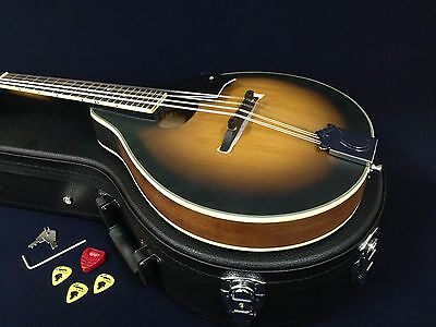 Caraya Teardrop,Oval Soundhole Mandolin,Matt Finished+Lockable Hard Case.TWM OVS