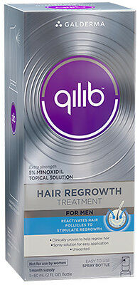 QILIB Minoxidil Hair Regrowth Treatment For Men - 1 Month Supply 2 Oz Total