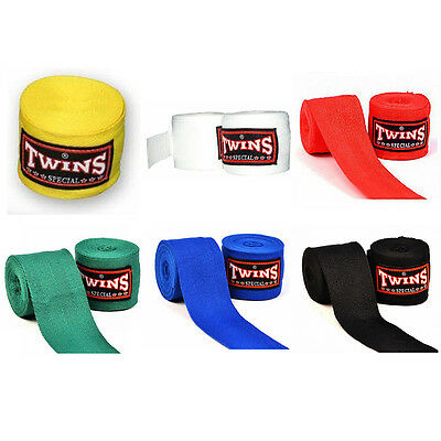 New MMA Twins Special CH-1 Solid Muay Thai Kick Boxing Protectors Hand Wraps