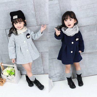 Vogue Baby Toddler Girl Trench Coat Kid Winter Warm Jacket Windbreaker Outerwear