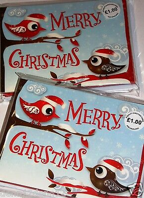 JUST 45p, CHRISTMAS CARDS IN PACKS OF 8 x 8 packs,(64 cards) high quality (G196