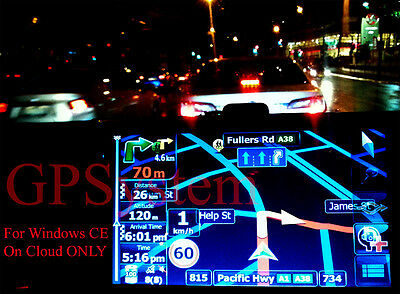GPS SAT NAV Software for WINCE + 2017 AUSTRALIA MAP download only