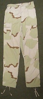 Genuine Us Army M65 Tri-Colour Dcu/desert Ripstop Combat Trousers. Small-Long.
