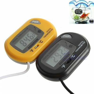 Digital LCD Fish Tank Aquarium Marine Water Thermometer Temperature Black GN