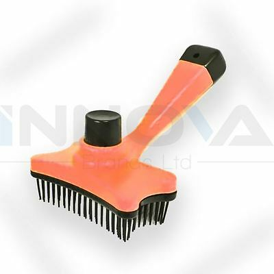 Pet Dog Cat Hair Fur Shedding Trimmer Grooming Rake Comb Brush Tool Orange