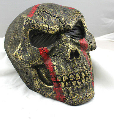 Fiber Resin Wire Mesh Eye Airsoft Paintball Full Face Protection Mask M831