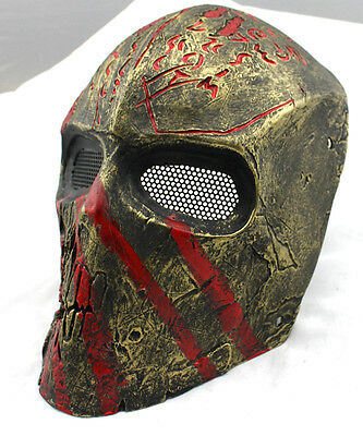 Fiber Resin Wire Mesh Eye Airsoft Paintball Full Face Protection Mask M791
