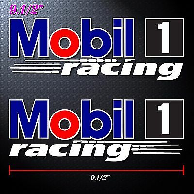 9 5x2p mobil 1 formula racing oil auto lube decal sticker print full die