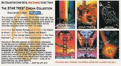 1994 Skybox widevision Star Trek The Cinema Collection promo card