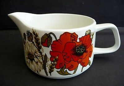 Vintage J & G Meakin Studio 'Poppy' Gravy Boat - Good Condition