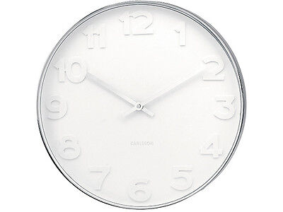 Karlsson Wall Clock Mr White With Numbers 37.5cm Dia