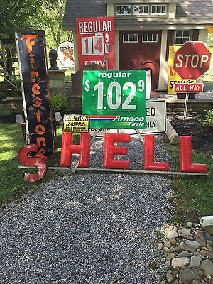 Rare Hard To Find Old Shell Gas Oil Letters  Closed Gas Station In Upstate Ny