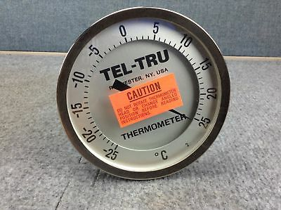 """Tel-Tru AA575R Adjustable Angle Thermometer, 5 inch dial; 9"""" stem"""