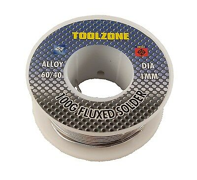 100g dia 1mm 60/40 Tin lead Solder Wire Rosin Core Soldering 2% Flux Reel Tube