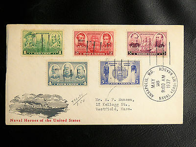 Us Navy Ship Covers : Annapolis. Md. Naval Academy Branch - 26 Mai 1937