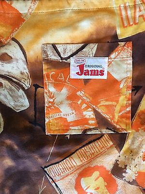JAMS WORLD Surf Line Hawaii Swim Trunk Bathing Suit Mens L to XL Cotton Vintage