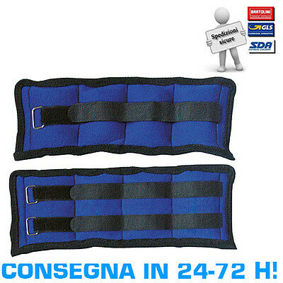 High Power Coppia Cavigliere Polsiere Appesantite 1,5 kg Tot 3 kg Corsa Fitness