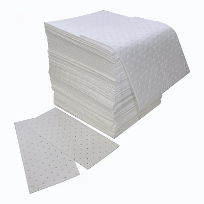 """Spilfyter Z-75 MRO White Oil Only Double Weight Sorbent Pad, 18"""" Length x 16"""" Wi"""