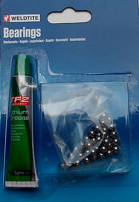 "Weldtite Ball Bearings Bike Cycle Cycling with Grease 5/32"", 3/16"" Cheapest"