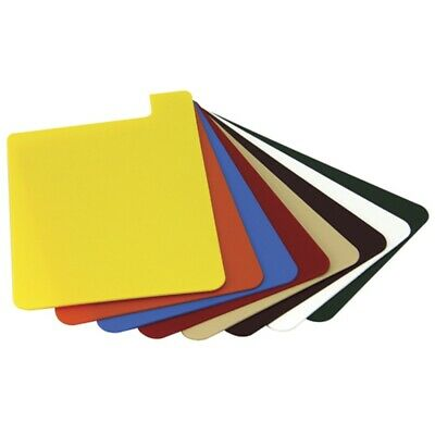 """Heavy Duty Plastic Shelf Markers  8 1/2""""H x 5 1/2""""W  8 Pack Assorted Colors"""
