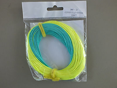 FLY LINE Weight Forward Floating 2WT Welded loop both ends Moss Green 100/' LN505