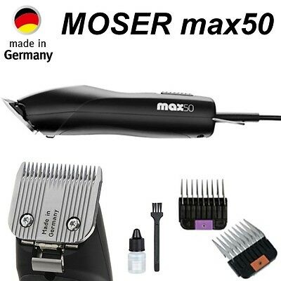 Moser Max 50 Tier Profi Schermaschine Haarschneidemaschine Animal Clipper NEU