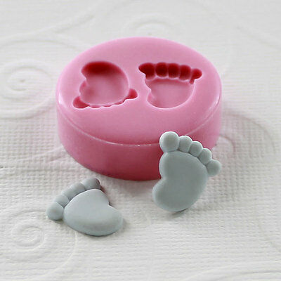 Baby Feet Silicone Cake Mould Cupcake Fondant Tool Mold New Born Life Shower