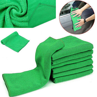 10pcs 9.8'' Microfibre Cleaner Car Detailing Washing Cleaning Soft Cloths Towel