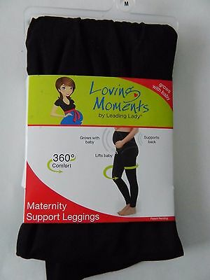 NEW Loving Moments Maternity Support Leggings Size M/L/2XL Supports Back