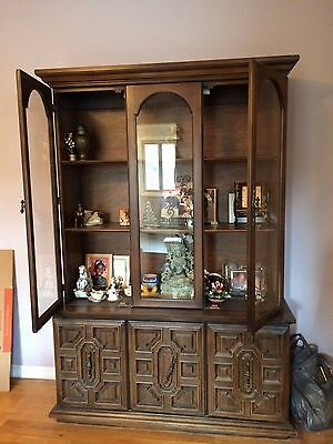Vintage China Cabinet With Hutch Display