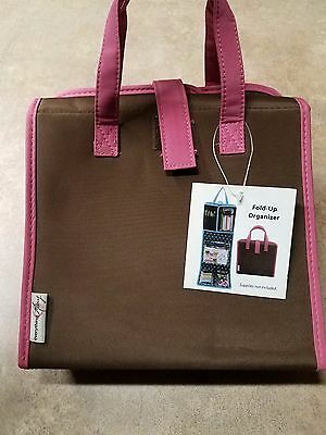 New Everything Mary Fold Up Organizer Pink & Brown