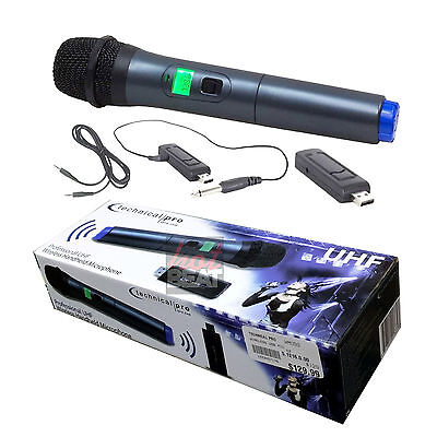 Technical Pro WMU99 Wireless UHF Handheld Microphone with USB Receiver
