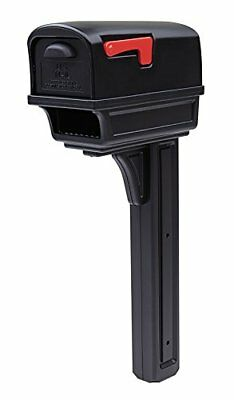 Gibraltar Gentry Large Capacity Double-Walled Plastic Black All-In-One Mailbox &