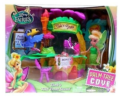 Disney Fairies Palm Tree Cove Tink's Tiki Treat Stand Playset 12p New/Sealed Toy