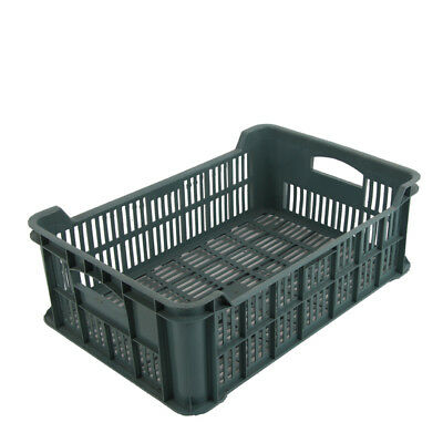 Plastic Produce Crate 15 kg Vegetable Box Produce Crate Stackable Storage Chest
