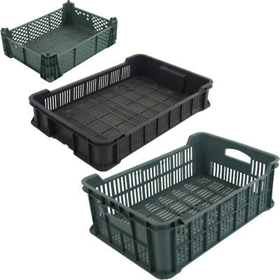 Plastic Produce Crate Vegetable Box Produce Crate Stackable Storage Chest Box