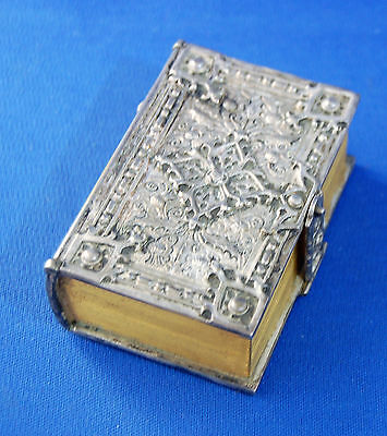 A very unusual Victorian gothic small jewellery casket in the form of a book