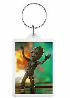 Guardians of the Galaxy Baby Groot Key Ring 50 x 35mm. Donation made to Charity.