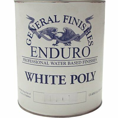 General Finishes Water Based White Poly Satin Gallon