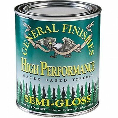 General Finishes High Performance Water Based Topcoat, 1 Quart, Semi-Gloss