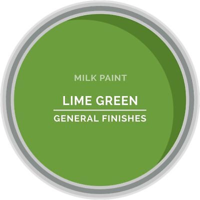 General Finishes Water Based Milk Paint, 1 Quart, Lime Green