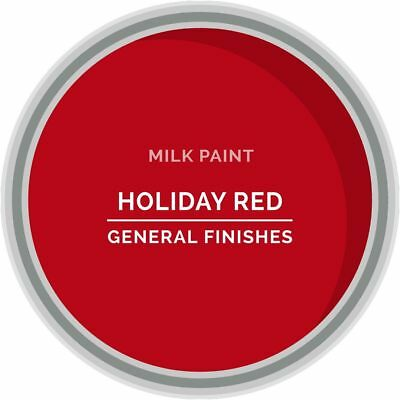 General Finishes Water Based Milk Paint, 1 Pint, Holiday Red