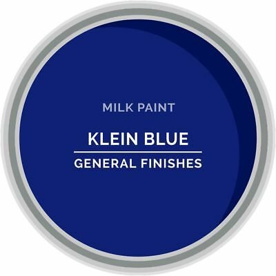 General Finishes Water Based Milk Paint, 1 Pint, Klein Blue