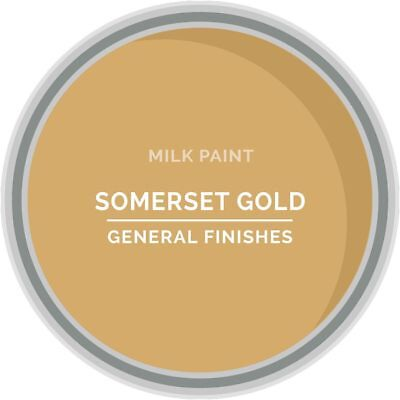 General Finishes Water Based Milk Paint, 1 Quart, Somerset Gold