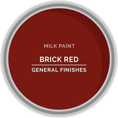 General Finishes Water Based Milk Paint, 1 Pint, Brick Red